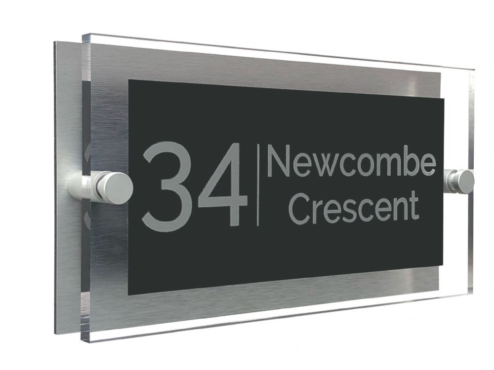 Rectangle - Clear Acrylic House Sign